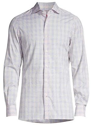 Isaia Seasonal Colors Plaid Sport Shirt