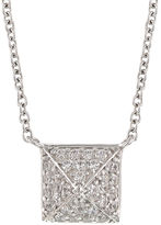 FINE JEWELRY DiamonArt .96 CT. T.W. Cubic Zirconia Sterling Silver Pyramid Cluster Necklace