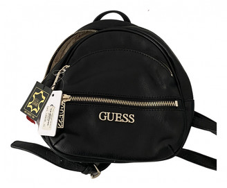 GUESS Black Leather Backpacks