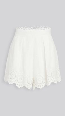 Zimmermann Bellitude Scallop Linen Shorts