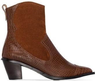 Reike Nen 60mm Snake-Effect Western Boots