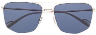Christian Dior 180 Geometric Aviator Sunglasses