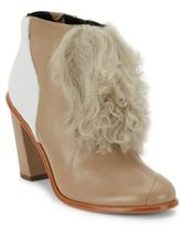 Tibi Naoni Shearling, Calf Hair & Leather Ankle Boots