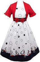 Jayne Copeland 7-16 Sailboat Print Dress