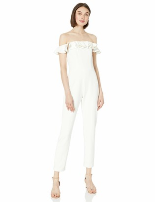 French Connection Women's Off-Shoulder Ruffle Jumpsuit
