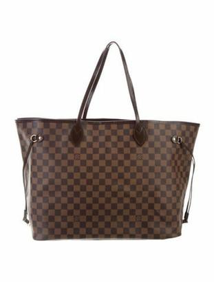 Louis Vuitton Damier Ebene Neverfull GM w/ Pouch Brown