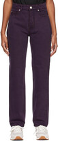 Thumbnail for your product : Won Hundred Purple Overdyed Pearl Jeans