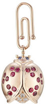 Aurelie Bidermann Fine Jewelry 18kt Gold Ladybug Pendant with Diamonds/Rubies/Sapphire