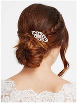 Jon Richard Rose Gold Crystal Daisy Swirl Hair Comb