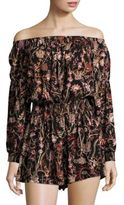 Free People Pretty and Free Off-the-Shoulder Floral Romper