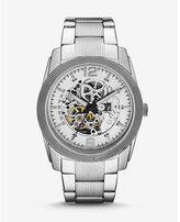 Express automatic analog bracelet watch - silver