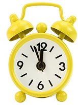 OHTOP Fashion Home Room Kid Portable Teen Mini Cute Dial Number Round Desk Alarm Clock