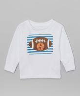 Swag White Stripe Football Monogram Tee - Infant Toddler & Boys