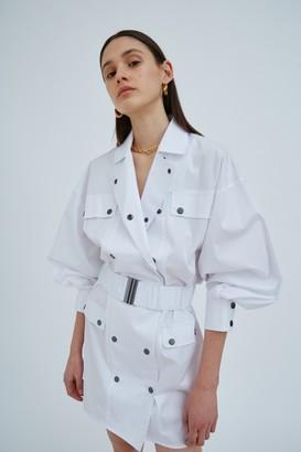 C/Meo ENTAIL DRESS White