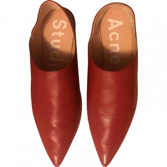 Acne Studios Red Leather Flats