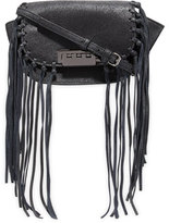Zac Posen Eartha Iconic Micro Accordion Crossbody W/Fringe, Black