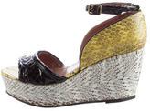 Derek Lam Embossed Wedge Sandals