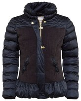 Supertrash Black and Navy Quilted and Tweed Jacket