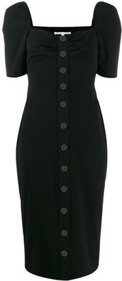 Veronica Beard Short-Sleeve Midi Dress