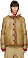 Joseph Reversible Tan Shearling Witham Jacket