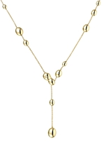 Chimento 18K Yellow Gold Armillas Oval Bead Y Necklace with Diamonds, 19