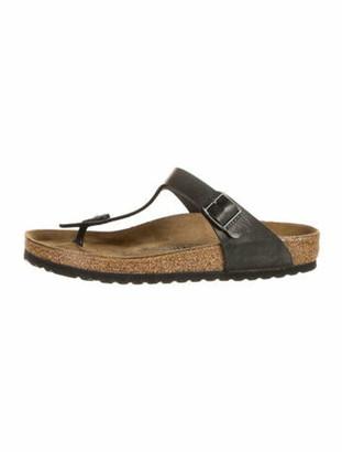 Birkenstock Leather T-Strap Sandals Black