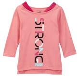Puma Strong 3/4 Length Sleeve Tee (Little Girls)