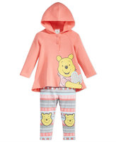 Nannette Baby Girls' 2-Pc. Winnie the Pooh Hooded Tunic & Leggings Set