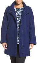 Ellen Tracy Plus Size Women's Wool Blend Stadium Coat