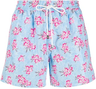 Borrelli Small Floral Print Swim Shorts