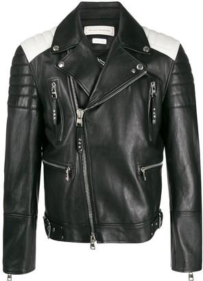 Alexander McQueen Two-Toned Biker Jacket