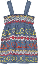 Stella McCartney Blue Embroidered Dress