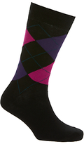John Lewis Made in Italy Egyptian Cotton Argyle Dot Socks, Pack of 2
