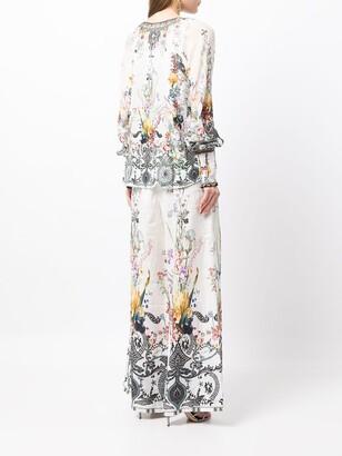 Camilla Floral-Print Blouse
