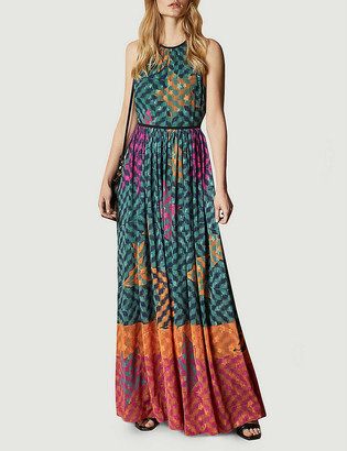 Ted Baker Zohzoh halterneck woven maxi dress