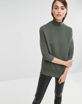 Selected Laua Ribbed Sweater with High Neck