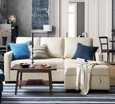 Pottery Barn SoMa Bryant Upholstered Sofa with Storage Chaise Sectional