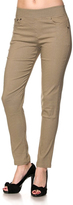Jane Khaki Five-Pocket Jeggings