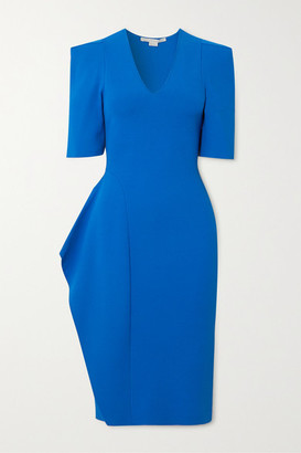 Stella McCartney Ruffled Stretch-knit Dress - Blue