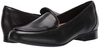Clarks Un Blush Ease (Black Leather) Women's Shoes