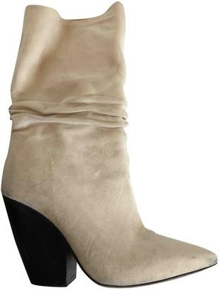 IRO Spring Summer 2019 Beige Suede Boots