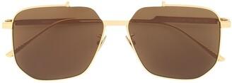 Bottega Veneta Square Frame Sunglasses