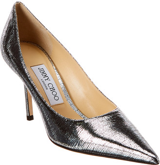 Jimmy Choo Love 85 Lizard-Print Metallic Leather Pump