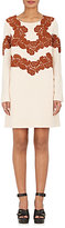 Chloé WOMEN'S LACE-APPLIQUÉD WOOL-BLEND SHIFT DRESS