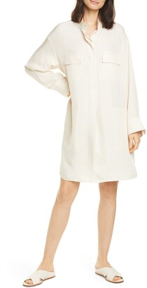 Vince Utility Long Sleeve Shirtdress