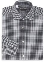 Ralph Lauren Tailored-Fit Plaid Check Cotton Dress Shirt