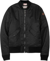 Schott Nyc American College Black Bomber Jacket