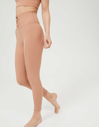 aerie OFFLINE Ribbed High Waisted Lace Up Legging
