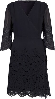 AllSaints Zariah Long Sleeve Wrap Dress