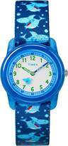 Timex Children's Quartz Watch with White Dial Analogue Display and Multicolour Nylon Strap TW7C13500